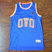 MM MASMIG Drake 9 OVO Basketball Jersey Stitched Blue