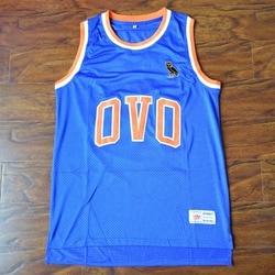 MM MASMIG Drake #9 OVO Basketball Jersey Stitched Blue