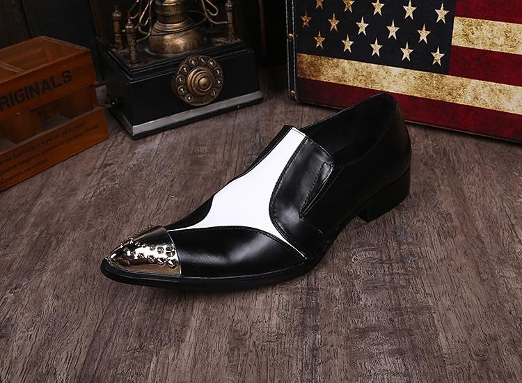 Hochzeit Schwarz Masculino Partei Weiß Neue Spitz Schuhe Sapato Größe Männer Casual Metall Kleid Formale Beige Oxford Plus Herren 571q1zFB