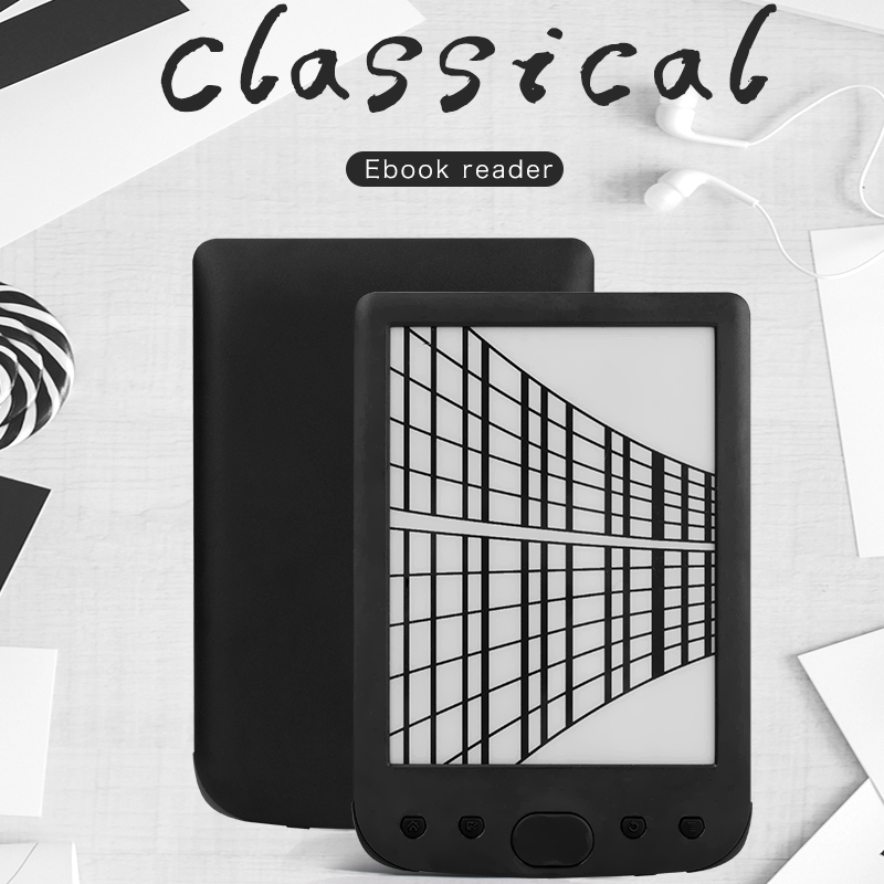 "E ink Mini E book reader BK6025M Multilingual system ebook reader 6"" 8G eink screen 2500mAh pocket books gift pu cover"