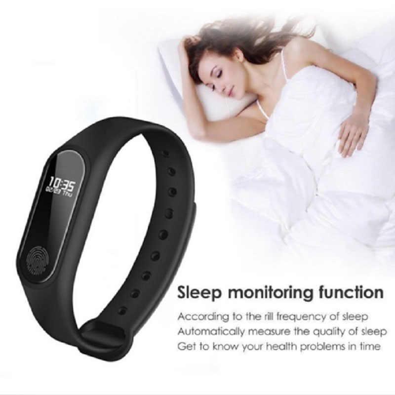 Novo m2 moda inteligente esporte relógio de fitness correndo rastreador pulseira passo contagem distância caloria calculadora banda para homens