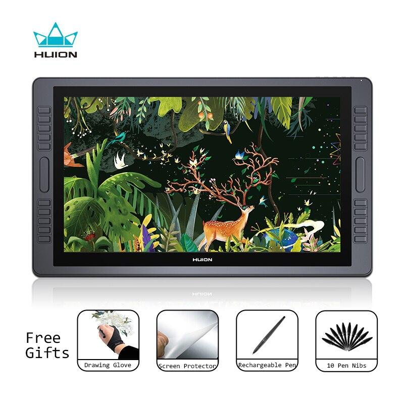 Huion KAMVAS GT-221 Pro Pen Display Tablet Monitor de gráficos del dibujo de Monitor de 21,5 pulgadas 8192 niveles con regalos gratis
