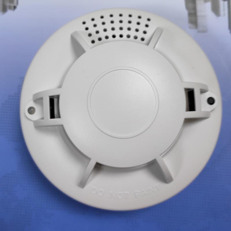 Home Safe AC 110 AC220V Optical Smoke Detector  Battery Powered Dc 9v Smoke Alarm  Photoelectric   DC9V &AC Smoke Detector