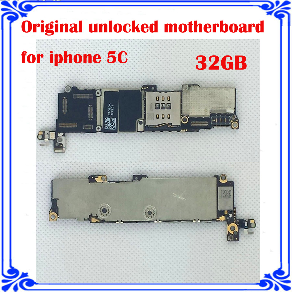 imágenes para Para iphone 5C 32 GB abierto original placa base placa lógica instalado IOS sistema mainboard 100% probó bueno trabajo