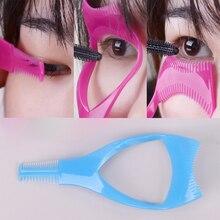 Aplicador de cílios 3 em 1, máscara de maquiagem guia de ondulação pente modelador de cílios cosméticos