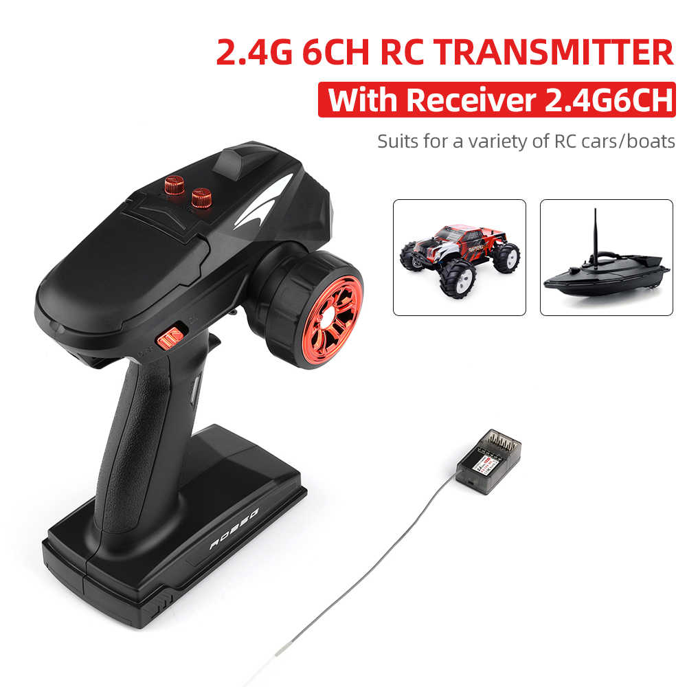 X4 RC Zender 2.4G 4CH 6CH Radio Controller 400-500m Controle Afstand met Ontvanger voor RC Auto boot VS GoolRC TG3