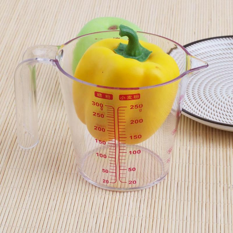500ml Plastic Kitchen Flour Measuring Cup With Handle Design Baking Cooking Tool Measured E5m1