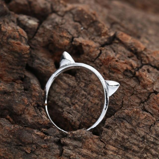 Тоторова пара ювелирных изделий Кольцо милый кот Сережки для