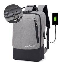 цена на Men Multifunction USB charging Men 15.6/17inch Laptop Backpacks For Teenager Fashion Male Mochila Travel backpack anti thief