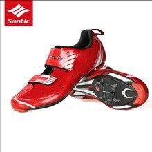 Santic Вело-обувь Мужские Pro Триатлон гонки 2018 велосипед Обувь спортивные самоблокирующимся Велосипедный Спорт Обувь Спортивная Обувь Zapatillas Ciclismo