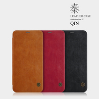 Oneplus 5T Case Brand NILLKIN QIN Hight Quality Lthr Flip Leather Case For Oneplus 5T Bumper