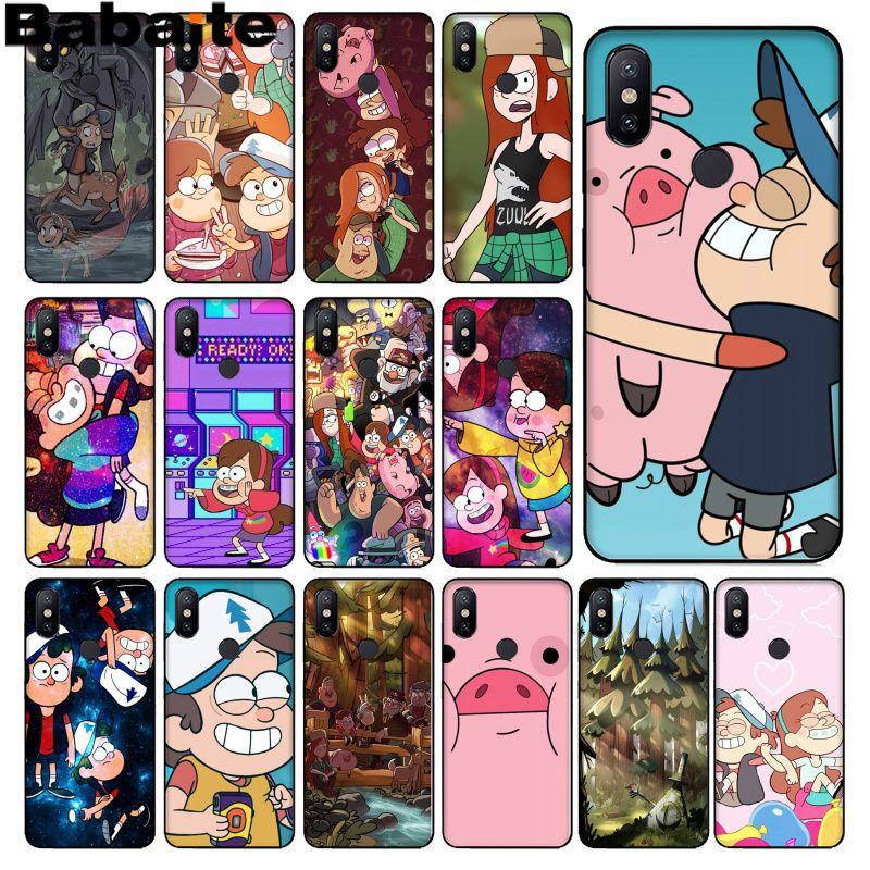 Babaite Cartoon Anime Gravity Falls Family Black TPU Soft Phone Case for xiaomi mi 6  8 se note2 3 mix2 redmi 5 5plus note 4 5 5