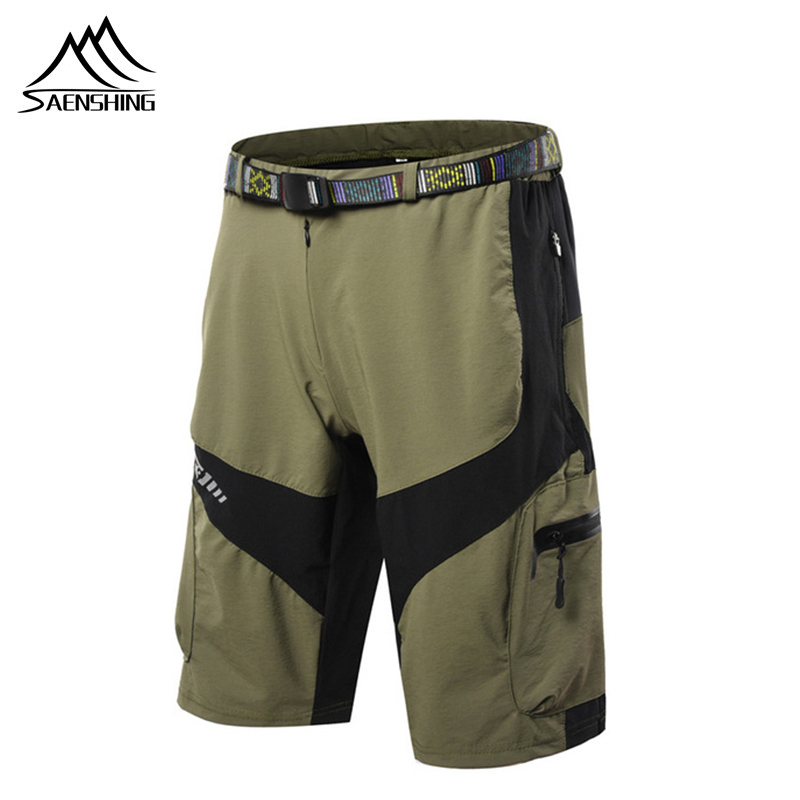 SAENSHING Men's MTB Bike Shorts Breathable Quick Dry Cycling Shorts Running Hiking Mountain Climbing Sports Shorts