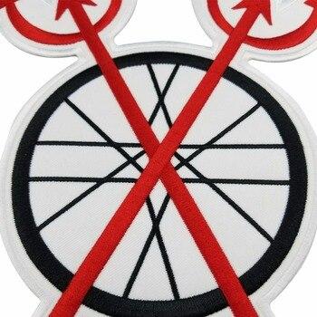Parche De Biker Con Bordado De Edición De DEVILS Rojos En Parches De Bricolaje De Balancín Personalizados Para Accesorios De Ropa