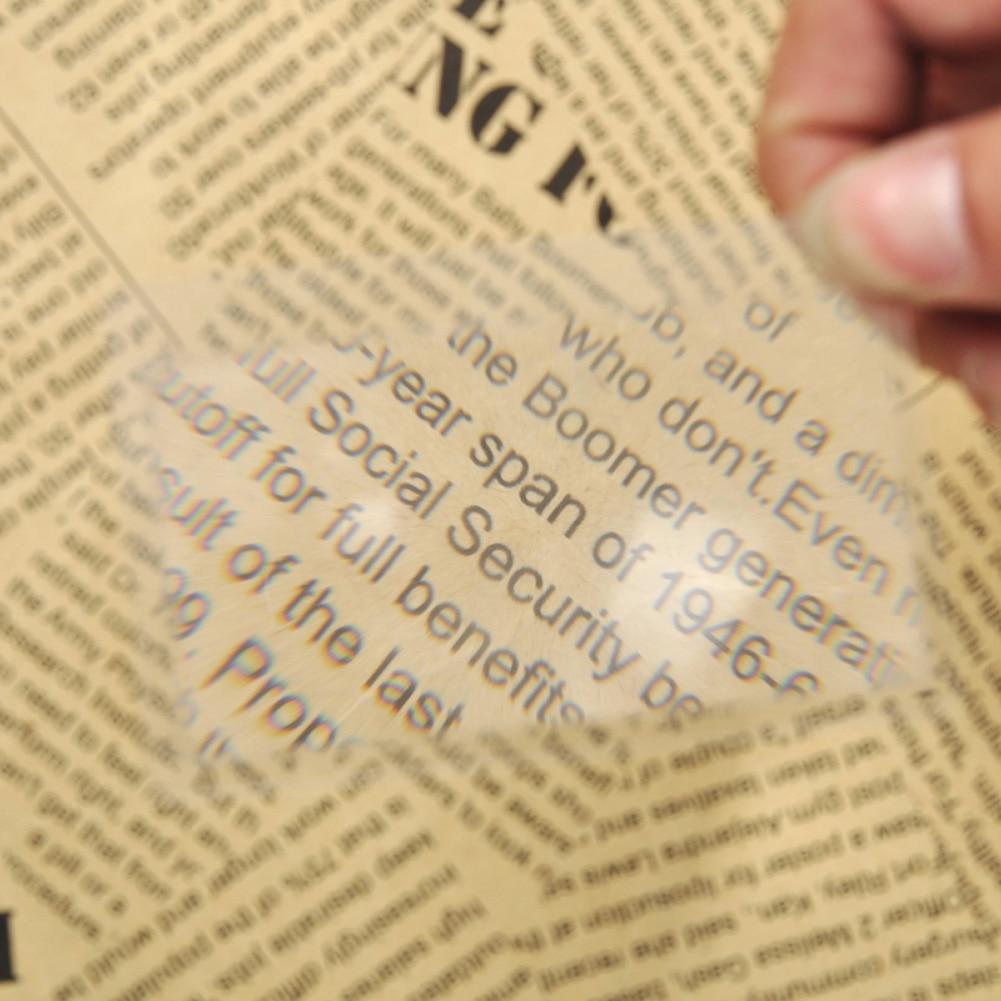 10vnt. Padidinamojo stiklo objektyvas Skaidraus stiklo kortelė 3x - Matavimo prietaisai - Nuotrauka 3