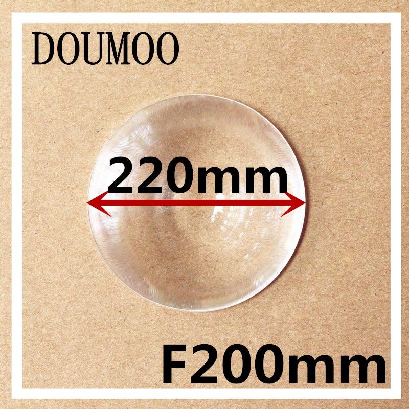 4 pcs support dropshipping Fresnel lens Diameter 220 Focal length 200 mm magnifier lens traffic light led light fresnel lens