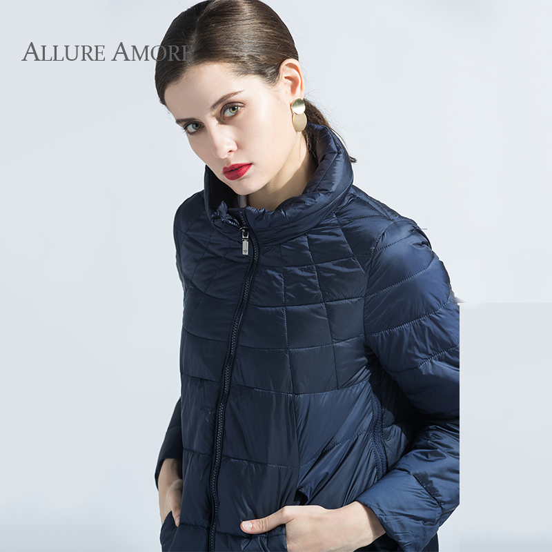 New Spring Women Jacket Plus Size Coat Women's Thin Cotton Padded Jacket Hooded Cotton Coat women's   parka   Big Size Allure Amore