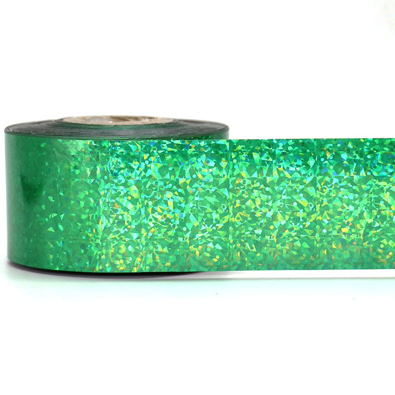 120M*4CM Green Cat's Eye Nail Transfer Foils Laser Nail Art Transfer Foil Stickers for Nail Charms Manicure Nail Art Decorations 120m 4cm rainbow laser transfer foil stickers nail art wraps diy manicure fingernail decorations beauty salon supply wy300