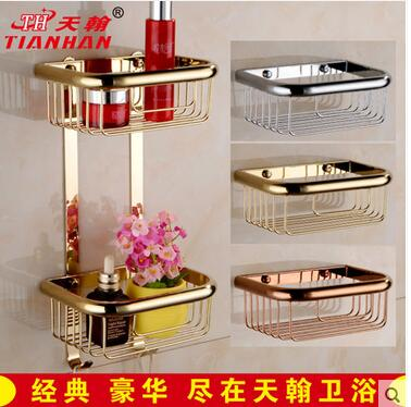 Sanitary ware ou all 20 centimeters square chrome plated copper shelf rose gold top