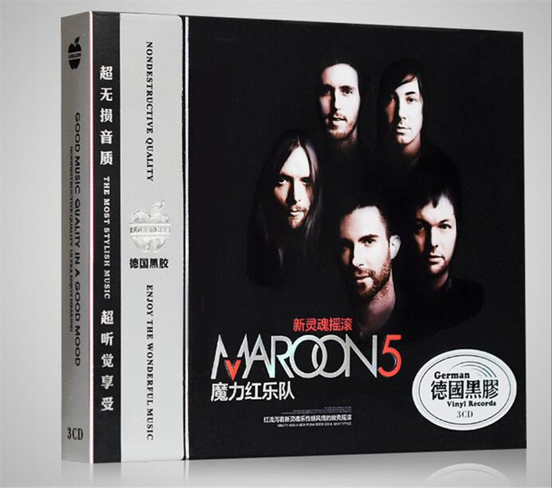 Free Shipping: Maroon 5 Classic Rock Music Car 3CD Seal