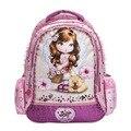 Encantador dos desenhos animados princesa barbie mochilas crianças escola mochilas 2017 nova moda kds ombro sacos de escola para meninas mochila