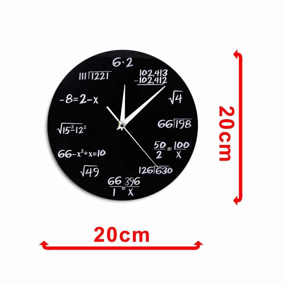 a32aa9f9e499 ... Ingeniería números matemáticas Reloj de pared ecuación matemática  decorativo reloj Pop Quiz pared arte