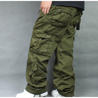 2019 Loose Plus Size 46 Cargo Pants Overalls Hip Hop Men's Cotton Trousers Hiphop Men Baggy Casual Pants Mens Bottoms Camouflage
