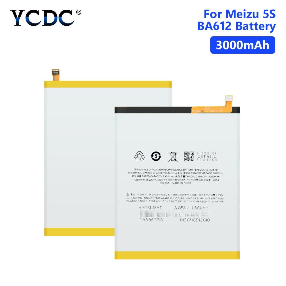 Bateria recarregável do íon do lítio-íon li de 3.85 v 3000 mah ba612 para pilhas da bateria da substituição do telefone móvel de meizu 5S m5s m612q m612m