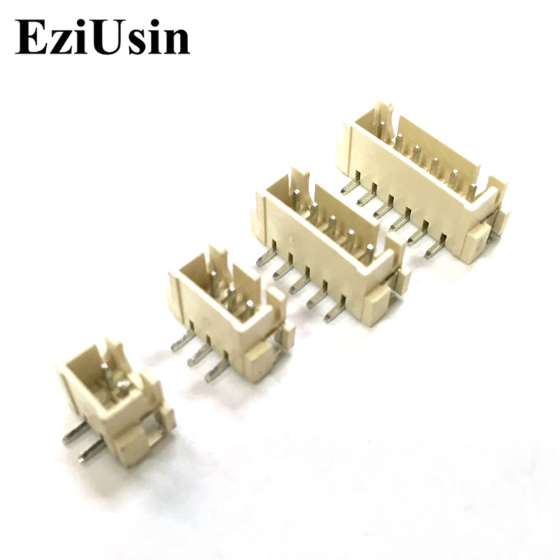 EziUsin Vertical XH2.54 AT Pitch 2.54mm SMT Connector Surface Mounted Technology Needle Seat Socket 2P 3P 4P 5P 6P 8P 9P 10P lying posted zh1 5mm pitch 1 5 connector 2p 3p 4p 5p 6p 8p horizontal outlet patch