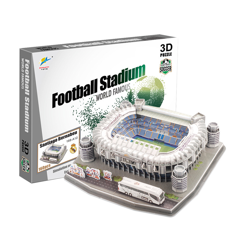 New Product Football Field Model Camp Nou Paper DIY Toys Soccers for Children Gift Dropshipping