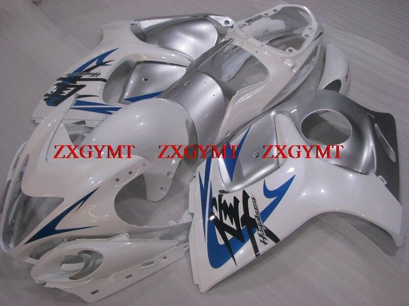 Body Kits for for Suzuki GSXR1300 2008 - 2014 Body Kits HAYABUSA 2012 White Silver Fairings for Suzuki GSXR1300 2009Body Kits for for Suzuki GSXR1300 2008 - 2014 Body Kits HAYABUSA 2012 White Silver Fairings for Suzuki GSXR1300 2009