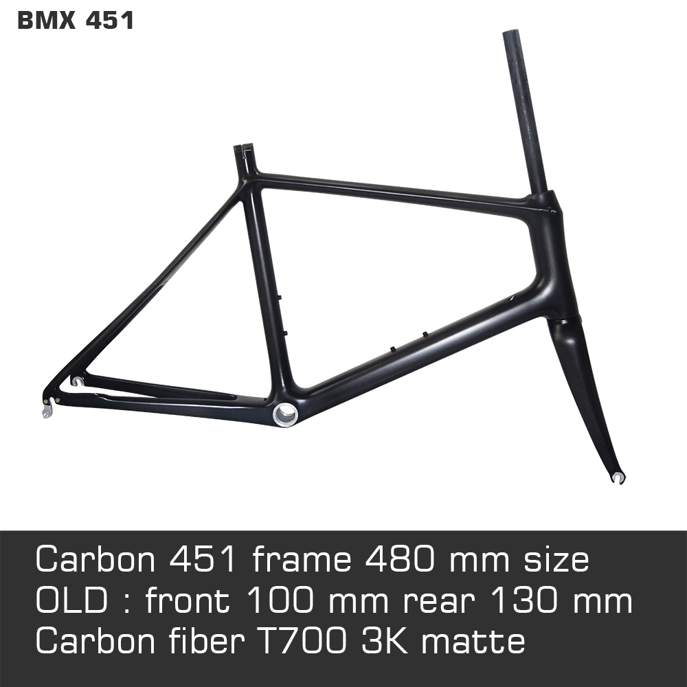 20 BMX 451 full carbon road bike frame 480 mm for sale include fork headset not folded 31.6 seat post tube track frame fixed gear frame bsa carbon 1 1 2to 1 1 8 bike frameset with fork seatpost road carbon frames fixed gear frameset