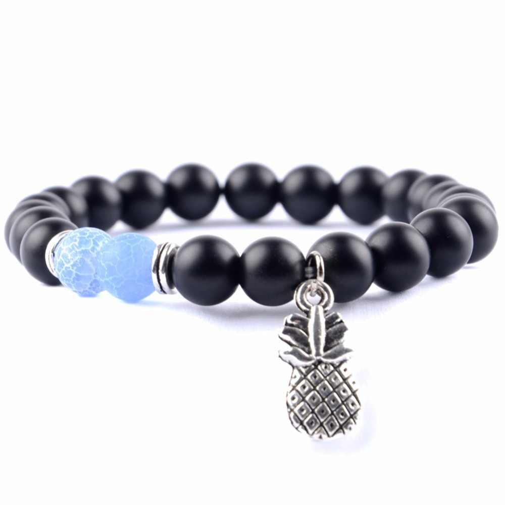 Прямая поставка 2018 модные браслеты с подвесками ананасом для женщин натуральный ювелирный камень браслет для мужчин Будда ювелирные изделия Pulseras