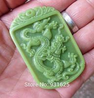 Wonderful Rarely Natural Stone Fluorite Carved Dragon Pendant + Rope Necklace Glow in Dark luminous stones Pendants Jewelry