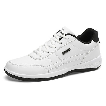 AODLEE Plus Size 38-48 Fashion Men Sneakers for Men Casual Shoes Laces Male Footwear Mens Walking Shoes Spring Leather Shoes Men - White, 6.5