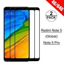 [2 パック] HD 強化保護ガラス Redmi 注 5 グローバル/Redmi 注 5 Pro のスクリーンプロテクターガラス Xiaomi Redmi 注 5