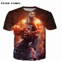 ed94b0aed9ec PLstar Cosmos hot sale cool summer fashion Men/Women casual T-shirts Star  character Lebron James Dunk 3d print Hip Hop t shirt