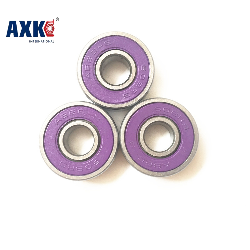 10pcs Purple 608-2RS 8X22X7mm 608RS for 608 hand spinner roller skate inline red skates shoes Ball bearings 8*22*7mm everflo е 608 step purple