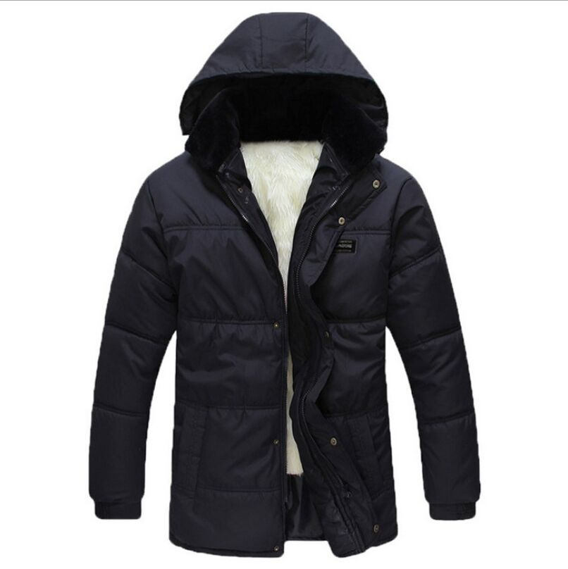 2016 Hot Sale Men Winter Jacket Korean Style Slim Fit Fashion Warm Thick Men Coat XL