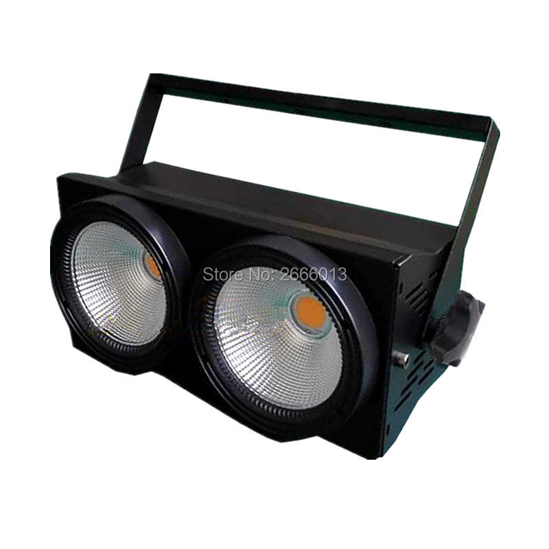LED Multifunction Theater Light 2 Eyes 200w COB LED Blinder Stage Light DMX12 Warm white and cool White 2X100W Audience lights blinder m45 x treme