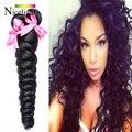 Nicelight Компания Волос Малайзии Свободная Волна 4 Связки Малайзии Девы Волос Свободная Волна Tissage Bresilienne Свободные Вьющиеся Волосы 1B