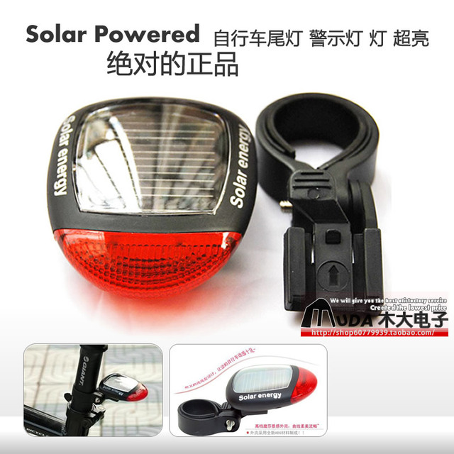 Free shiping NEW Solar Power Bicycle tail light,bike Rear light, Safety solar tail Light, Solar Bcycle Accessories Equipment