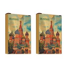 Russia Gold Playing Cards  Waterproof Plastic Creative Gift Poker cards Durable Game 2Packs