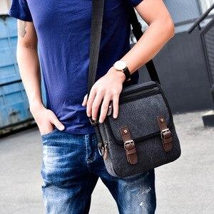 Image 2 - Hot Fashion Canvas Men Shoulder Bags Vintage Messenger Crossbody Bags for Men Satchel Big Capacity Casual Tote Bag Men Handbag