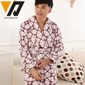 Flannel Nightgown Winter Male Fashion Pajamas Sets Thicken Bathrobes Men Comfortable Warm Loungewear L-3XL