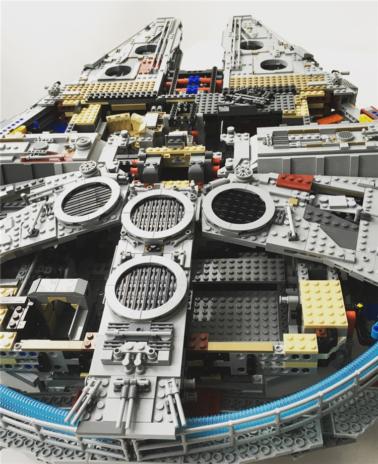 Millennium Falcon Lepin 8445pcs Compatible 75192 Star wars Series Ultimate Collectors Model Building Bricks Toys 46