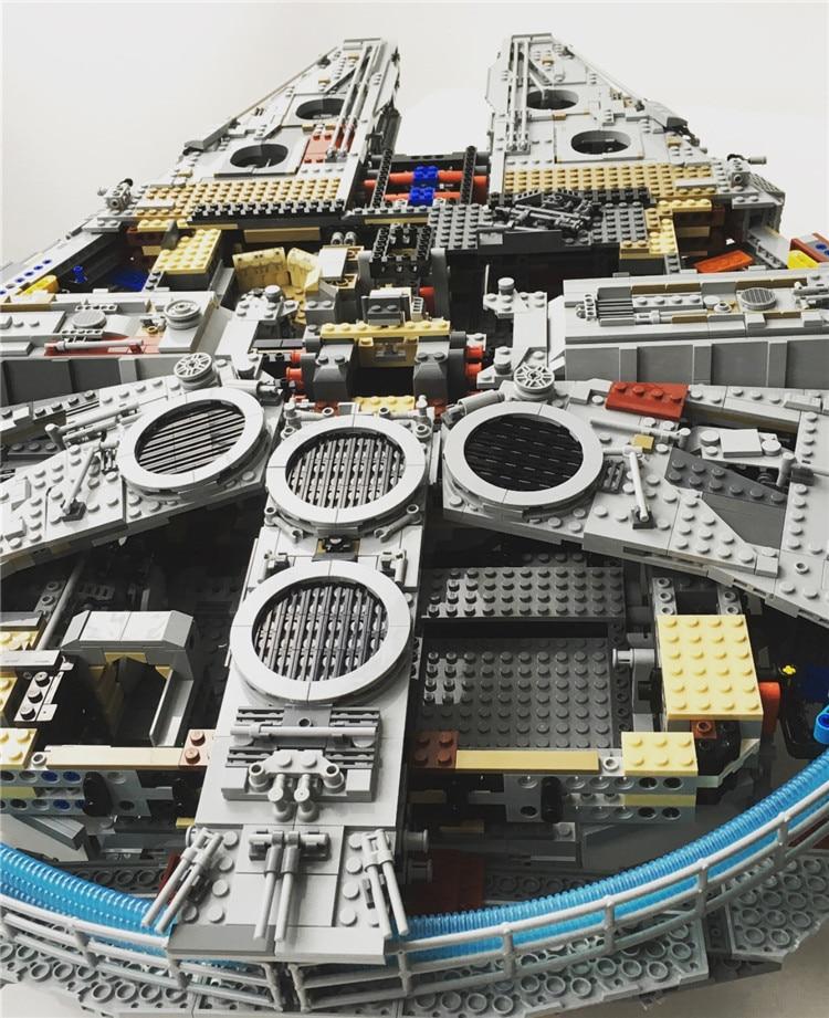 Millennium Falcon Lepin8445pcs Compatible 75192 Star wars Series Ultimate Collectors Model Building Bricks Toys 22