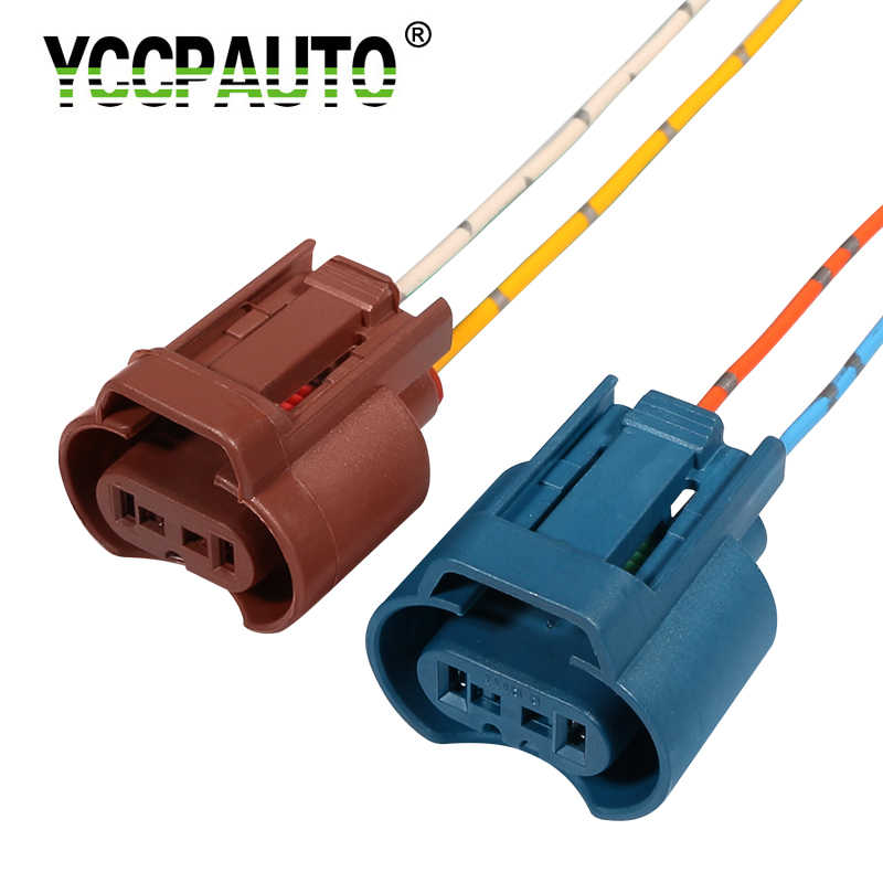 YCCPAUTO 2Pcs H8 H11 Socket Wiring Harness 9005 HB3 9006 HB4 Holder Connector Auto Car Headlight Fog Lamp Base