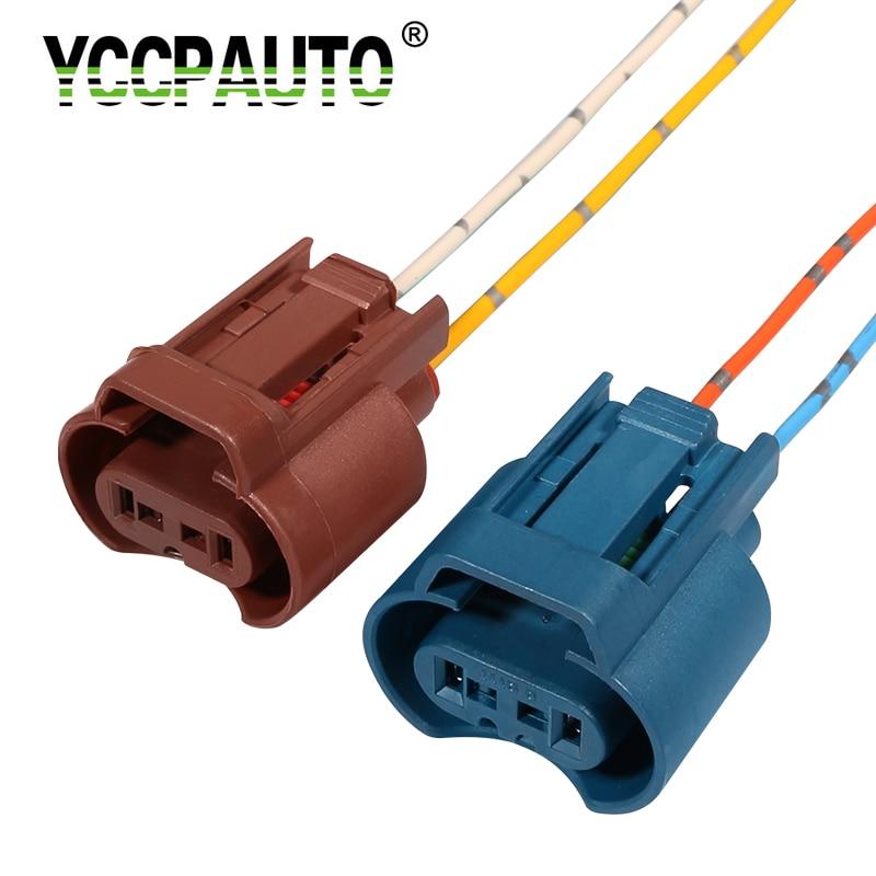 YCCPAUTO 2Pcs H8 H11 Socket Wiring Harness 9005 HB3 9006 HB4 Holder Connector Auto Car Headlight Fog Lamp Base