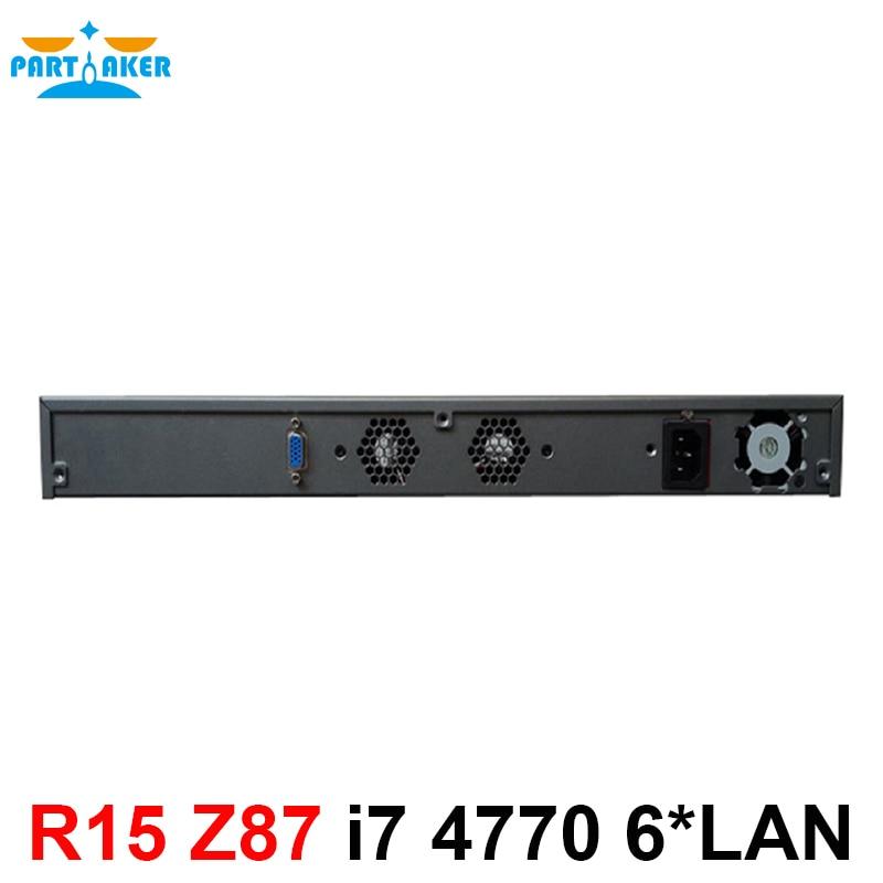 Serwer komputerów stacjonarnych 1U Firewall pfsense 1U firewall router z 6 gigabit lan Intel czterordzeniowy i7 4770 3.9Ghz Wayos PFSense ROS